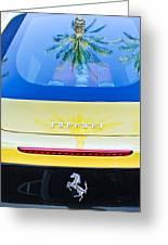 Ferrari Rear Emblem -0062c Greeting Card