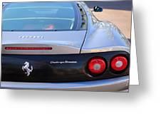 Ferrari Rear Emblem - Taillights -0089c Greeting Card