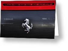Ferrari - Rear Grill And Stallion Badge Greeting Card