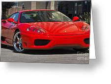 Ferrari Red Greeting Card