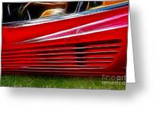 Ferrari Testarossa Red Greeting Card