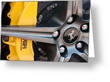 Ferrari Wheel - Brake Emblem Greeting Card