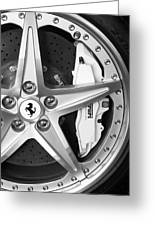Ferrari Wheel Emblem Greeting Card