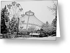 Ferris Wheel And R F P Pavilion - Spokane Washington Greeting Card