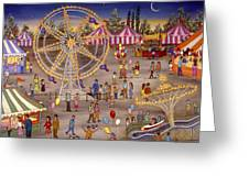 Ferris Wheel At The Carnival Greeting Card