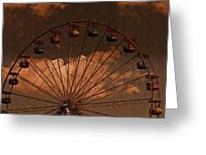 Ferris Wheel At Twilight Greeting Card