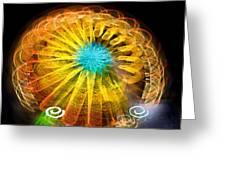 Ferris Wheel Flower Greeting Card