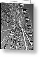 Ferris Wheel In Black And White Greeting Card