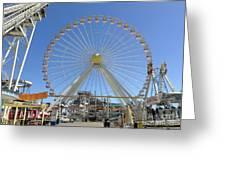 Ferris Wheel In Wildwood New Jersey Greeting Card