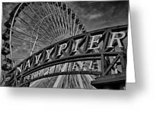 Ferris Wheel Navy Pier Greeting Card
