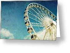 Ferris Wheel Retro Greeting Card