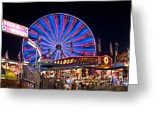 Ferris Wheel Rides And Games Greeting Card