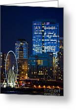 Ferris Wheel Seattle Harbor Greeting Card