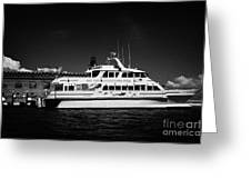 Ferry And Dock At Fort Jefferson Dry Tortugas National Park Florida Keys Usa Greeting Card by Joe Fox