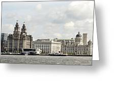 Ferry At Liverpool Greeting Card
