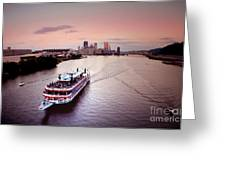Ferry Boat At The Point In Pittsburgh Pa Greeting Card