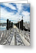 Ferry Dock Greeting Card