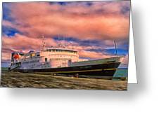Ferry Dockside At Cold Bay Greeting Card