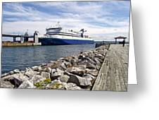 Ferry From North Sydney-ns To Argentia-nl Greeting Card