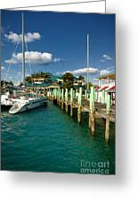 Ferry Station Paradise Island Greeting Card