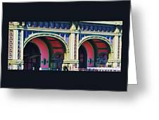 Ferry Terminal Arches At The Battery, New York Greeting Card