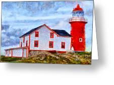Ferryland Lighthouse In Newfoundland Greeting Card