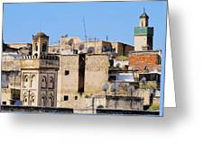 Fes Cityscape In Morocco Greeting Card