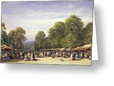 Festival At St. Cloud, C.1860 Greeting Card