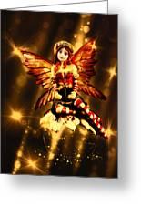 Festive Amber Fairy Greeting Card