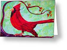 Festive Cardinal Greeting Card