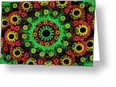 Festive Fractal Greeting Card