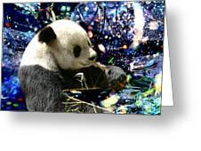 Festive Panda Greeting Card