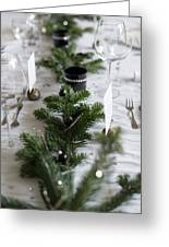 Festive Xmas Table Greeting Card
