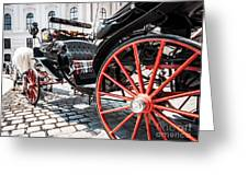Fiaker Carriage In Vienna Greeting Card
