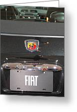 Fiat 500 Abarth Greeting Card