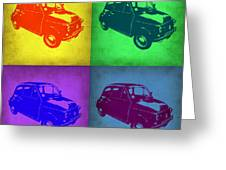 Fiat 500 Pop Art 1 Greeting Card