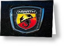 Fiat Abarth Emblem Greeting Card