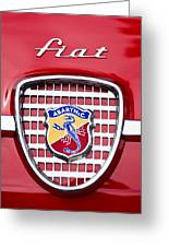 Fiat Emblem 2 Greeting Card by Jill Reger