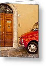 Fiat Parking Greeting Card