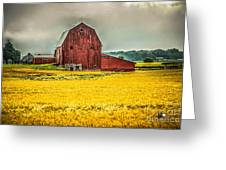 Field And Barn Greeting Card