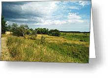 Field And Sky Greeting Card