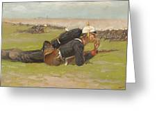 Field Drill For The Prussian Infantry  Greeting Card