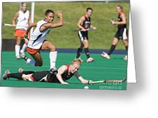 Field Hockey Hurdle Greeting Card
