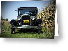 Field Of Dreams Vintage Ford Model A Tudor  Greeting Card