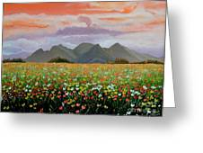 Field Of Flowers Greeting Card