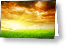 Field Of Grass Greeting Card by Boon Mee