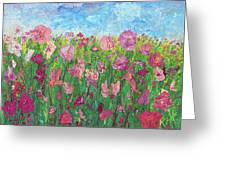 Field Of Pink For The Ladies Greeting Card