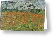 Field Of Poppies, Auvers-sur-oise, 1890 Greeting Card
