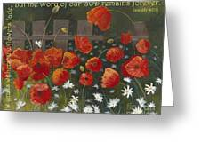Field Of Poppies With Scripture Greeting Card