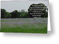 Field Of Treasure Greeting Card